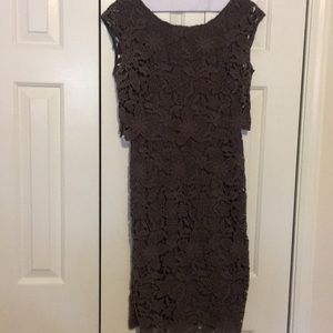 Boden gray lace dress